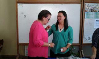 Compartiendo con hna. Rosita Cardona, Amigos 30 Calle