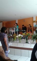 Predicando la Palabra de Dios y compartiendo proyecto, en mi Iglesia natal.