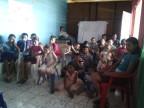 Con los niños en Metapan