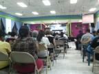 En el culto de cierre en la Conferencia Anual en Soyapango