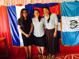 Con las Lideres de la Iglesia: Monita y Somali